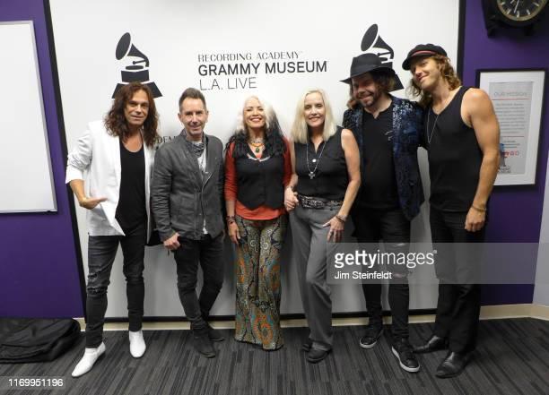 Eric Dover Derek Frank Brie Darling Cherie Currie Dave Schulz Matt Oloffson at the Grammy Museum in Los Angeles California on August 1 2019
