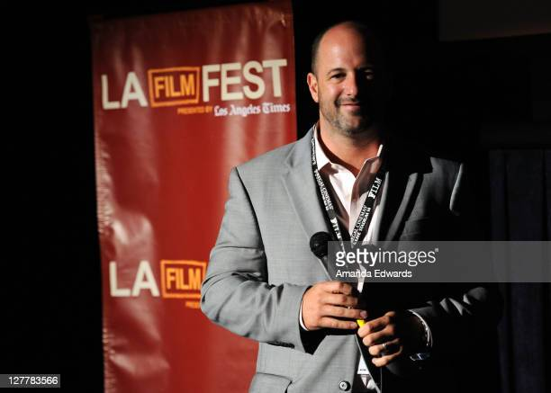 """Eric Drath speaks onstage at the """"Renee"""" Q & A during the 2011 Los Angeles Film Festival at Regal Cinemas L.A. Live on June 17, 2011 in Los Angeles,..."""
