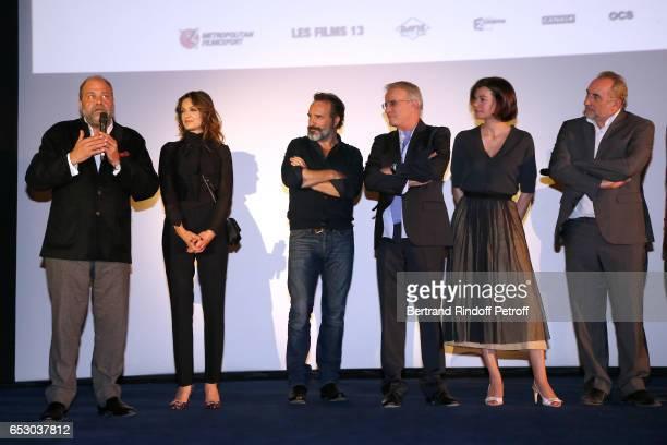 Eric DupondMoretti Nadia Fares Jean Dujardin Christophe Lambert Antoine Dulery Marianne Denicourt and Rufus attend the 'Chacun sa vie' Paris Premiere...