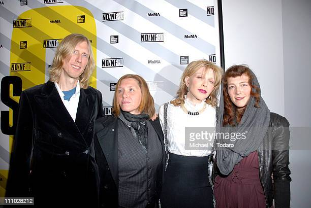 Eric Erlandson Patty Schemel Courtney Love and Melissa auf der Maur attend the 2011 New Directors/New Films screening of Hit So Hard at The Museum of...