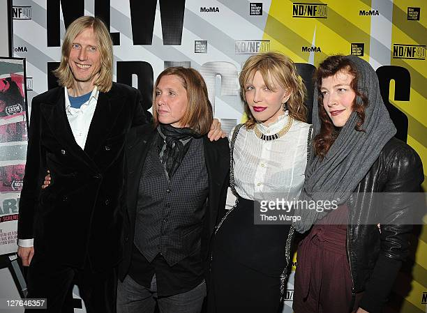 Eric Erlandson Patty Schemel Courtney Love and Melissa auf der Maur of Hole attend the 2011 New Directors/New Films screening of Hit So Hard at The...