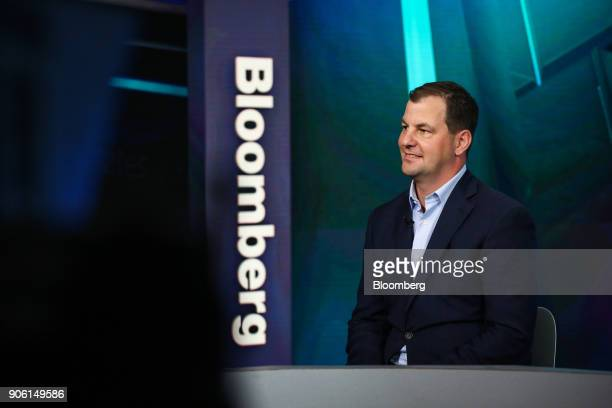 Eric Ervin chief executive officer of Reality Shares Inc smiles during a Bloomberg Television interview in New York US on Wednesday Jan 17 2018 Ervin...