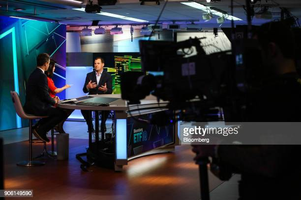 Eric Ervin chief executive officer of Reality Shares Inc speaks during a Bloomberg Television interview in New York US on Wednesday Jan 17 2018 Ervin...