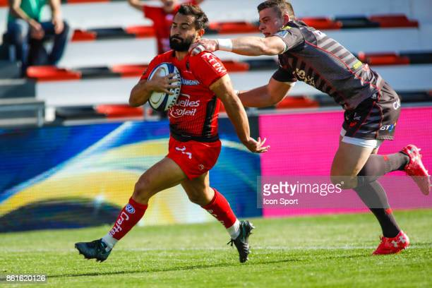 Eric Escande of Toulon during the European Champions Cup match between Toulon and Scarlets on October 15 2017 in Toulon France
