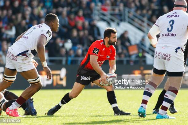 Eric Escande of Toulon during the Top 14 match between RC Toulon and Bordeaux Begles at Felix Mayol Stadium on January 27 2018 in Toulon France