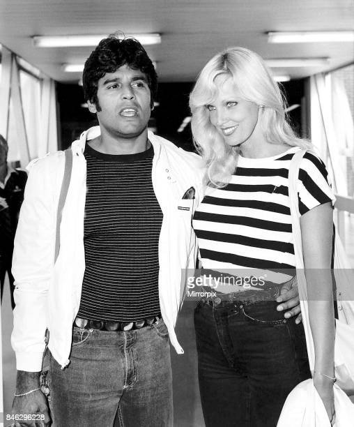 Eric Estrada actor who starred in the television series CHIPS with fiancee Kathy Shower August 1983