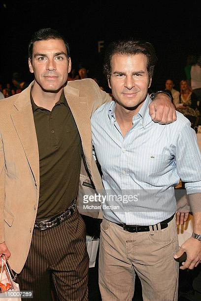 Eric Etebari and Vincent de Paul at the Monarchy Collection Spring 2008 Fashion Show during the Mercedes Benz fashion week at Smashbox Studios on...