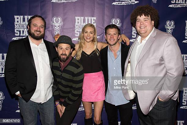 Eric Falconer Chris Romanski Romano Lindsey Sporrer Jimmy Tatro and Rob Ramsay attend the Blue Mountain State The Rise of Thadland New York Premeire...