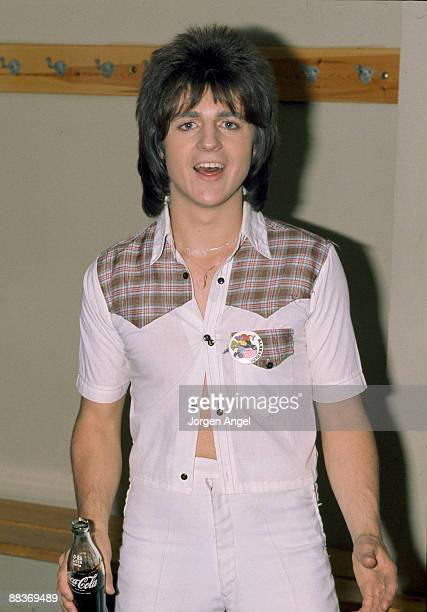 Eric Faulkner of pop group the Bay City Rollers poses backstage on October 21st 1975 in Nykobing Falster Denmark