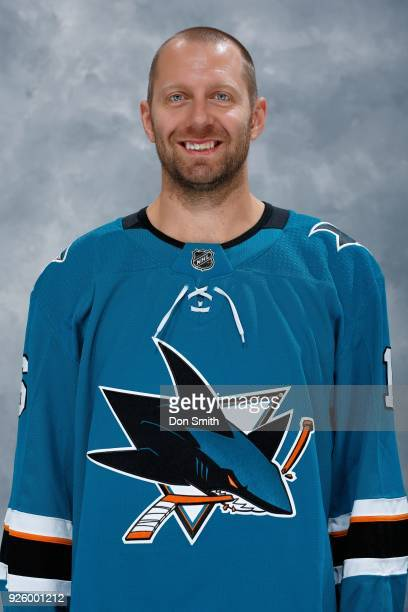 Eric Fehr of the San Jose Sharks poses for his official headshot at SAP Center on February 27 2018 in San Jose California