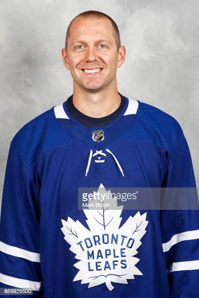 Eric Fehr of the Toronto Maple Leafs poses for his official headshot for the 20172018 season on September 14 2017 at the MasterCard Centre in Toronto...