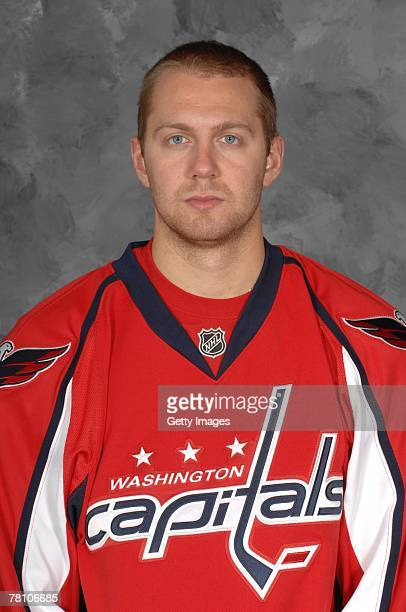 Eric Fehr of the Washington Capitals poses for his 2007 NHL headshot at photo day in Washington DC