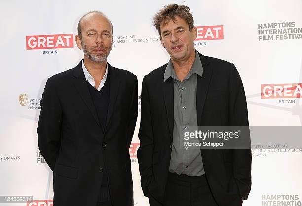 Eric Fellner and Tim Bevan attend the 21st Annual Hamptons International Film Festival on October 12 2013 in East Hampton New York