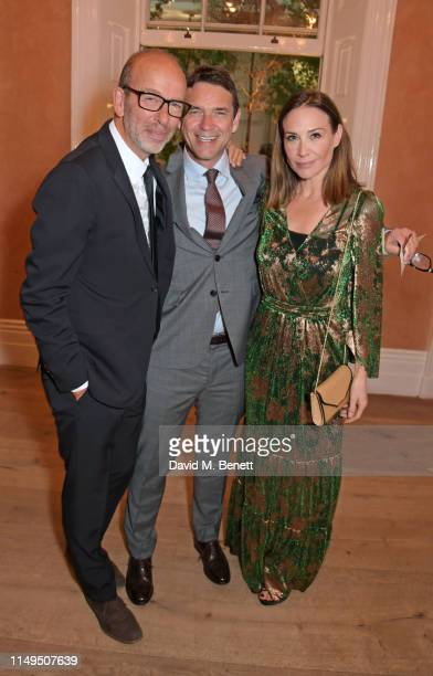Eric Fellner Dougray Scott and Claire Forlani attend a dinner hosted by Skye Gyngell and the Trustees of Action on Addiction to celebrate Addiction...
