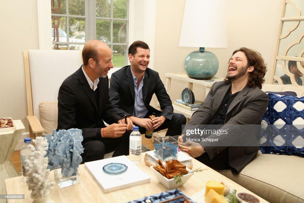 Eric Fellner, Luke Parker Bowles, and Edgar Wright attend the 21st Annual Hamptons International Film Festival on October 12, 2013 in East Hampton, New York.