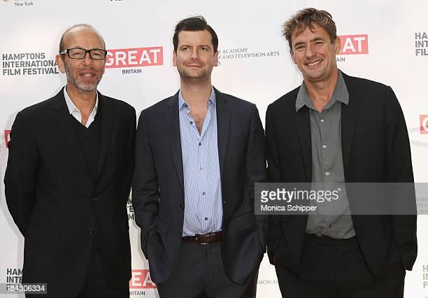 Eric Fellner Luke Parker Bowles and Tim Bevan attend the 21st Annual Hamptons International Film Festival on October 12 2013 in East Hampton New York