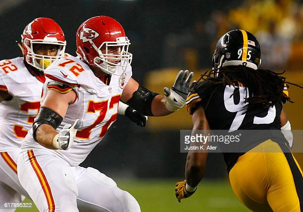 Eric Fisher of the Kansas City Chiefs in action during the game against the Pittsburgh Steelers at Heinz Field on October 2 2016 in Pittsburgh...