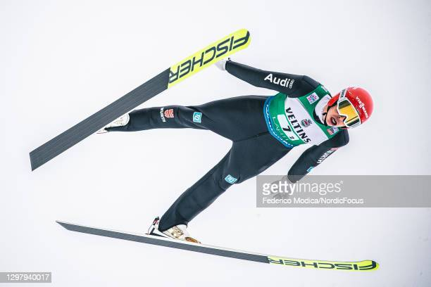 Eric Frenzel of Germany competes during the Men's Team Sprint HS130/2x7.5 Km at the Viessmann FIS Nordic Combined World Cup Lahti at on January 23,...