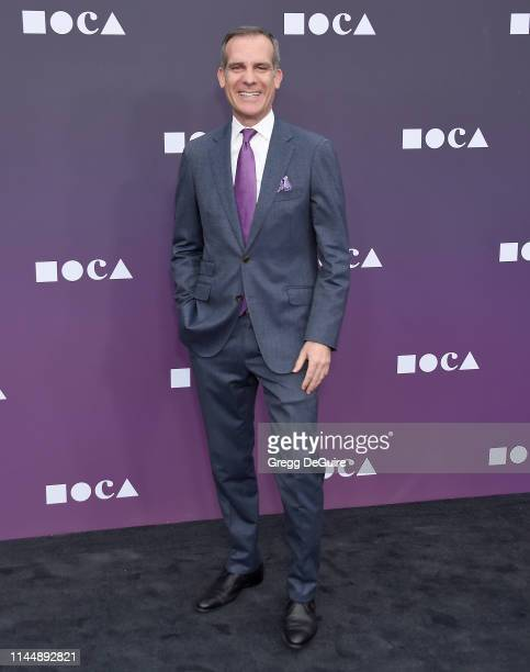 Eric Garcetti attends the MOCA Benefit 2019 at The Geffen Contemporary at MOCA on May 18 2019 in Los Angeles California