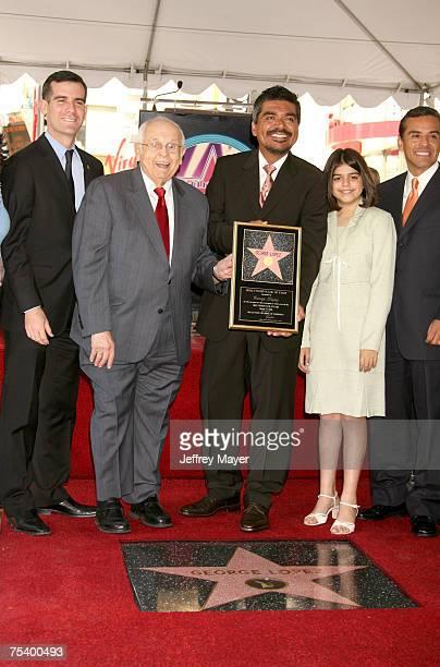 Eric Garcetti Johnny Grant George Lopez daughter Mayan and Los Angeles Mayor Antonio Villaraigosa