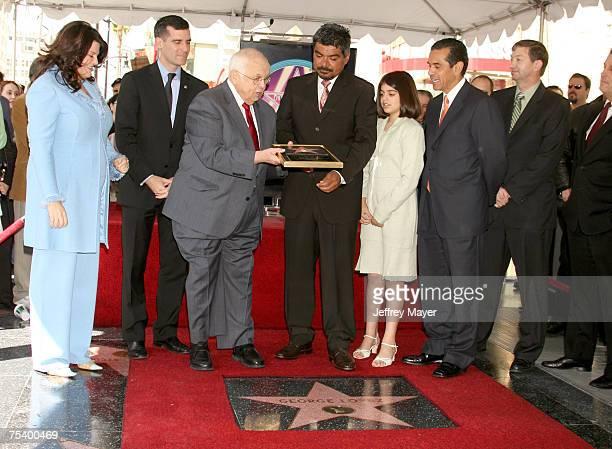 Eric Garcetti Johnny Grant George Lopez daughter Mayan Los Angeles Mayor Antonio Villariagosa and Leron Gubler