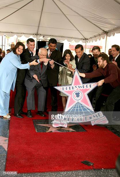 Eric Garcetti Johnny Grant George Lopez daughter Mayan Los Angeles Mayor Antonio Villaraigosa and Peter Roth Chairman Warner Bros Television Leron...