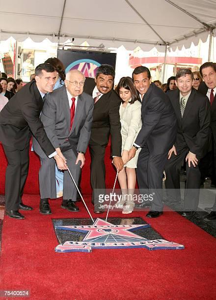 Eric Garcetti Johnny Grant George Lopez daughter Mayan Los Angeles Mayor Antonio Villaraigosa and Peter Roth Chariman Warner Bros Television and...