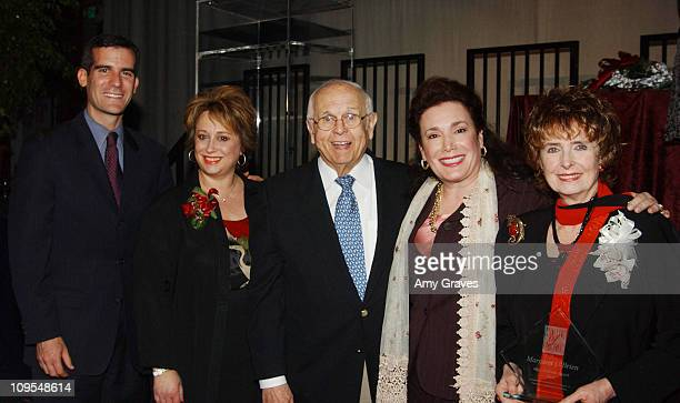 Eric Garcetti Lynne Segall VP and Associate Publisher for 'The Hollywood Reporter' Johnny Grant Donelle Dadigan of the Hollywood Museum and Margaret...