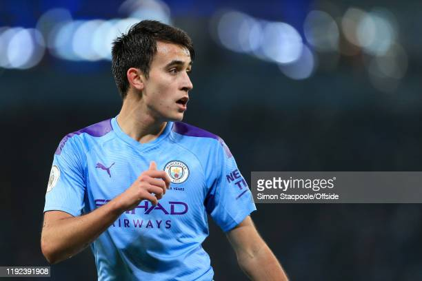 Eric Garcia of Man City looks on during the Premier League match between Manchester City and Everton FC at the Etihad Stadium on January 1 2020 in...