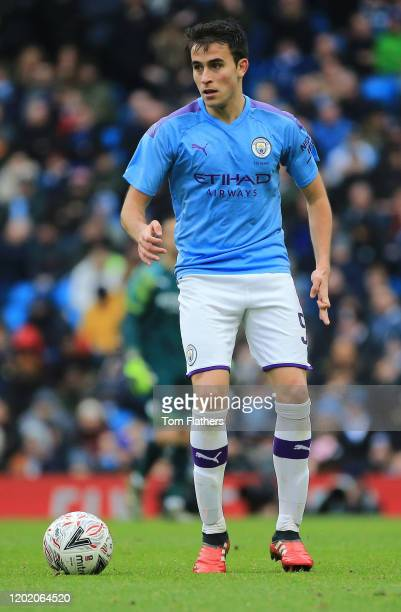 Eric Garcia of Manchester City during the FA Cup Fourth Round match between Manchester City and Fulham at Etihad Stadium on January 26 2020 in...