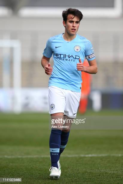 Eric Garcia of Manchester City during the Premier League 2 match between Manchester City and Everton at The Academy Stadium on April 07 2019 in...
