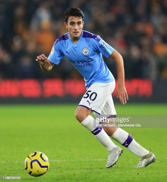 Eric Garcia of Manchester City during the Premier League match between Wolverhampton Wanderers and Manchester City at Molineux on December 27 2019 in...