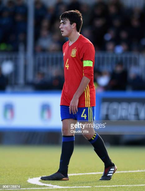 Eric Garcia of Spain action during the U17 International Friendly match between Italy and Spain at Juventus Center Vinovo on January 17 2018 in...