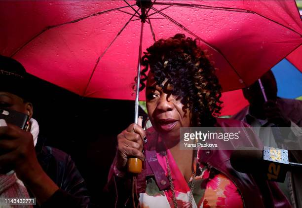 Eric Garner's mother Gwen Carr enters One Police Plaza before Officer Daniel Pantaleo's trial on May 13 2019 in New York City Officer Pantaleo faces...