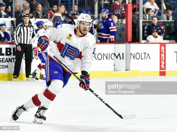 Eric Gelinas of the Laval Rocket skates against the Rochester Americans during the AHL game at Place Bell on October 25 2017 in Laval Canada The...