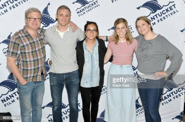 Eric Gilliland Zach Phillips Huong Nguyen Amy Haglage and Sarah Kruchowski attend the 2018 Nantucket Film Festival Day 5 on June 24 2018 in Nantucket...