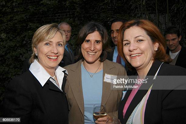 Eric Gioia Senator Hillary Rodham Clinton Kim Catullo and Christine Quinn attend Jonathan Sheffer and Dr Christopher Barley Benefit party for...