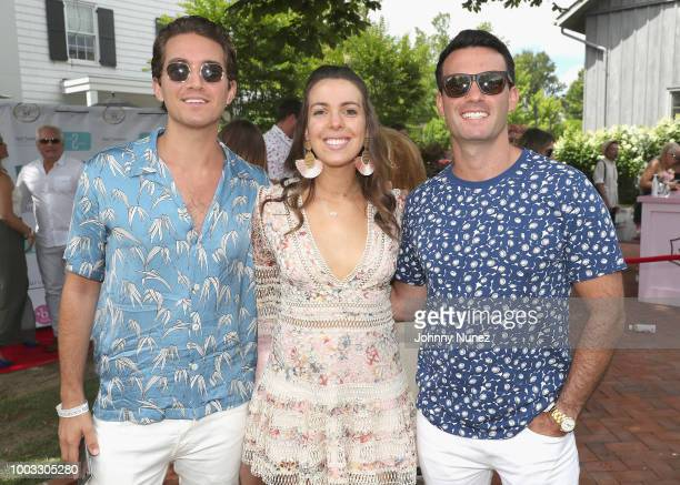 Eric Goldie, Vanessa Gordon and Jeremy Batoff attend The Inaugural Hamptons Interactive Influencer Brunch Hosted By East End Taste Produced By...