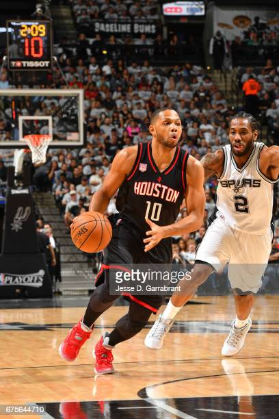 Eric Gordon of the Houston Rockets during the game against the San Antonio Spurs during Game One of the Western Conference Semifinals of the 2017 NBA...