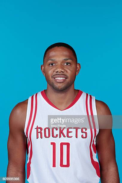 Eric Gordon of the Houston Rockets poses for a headshot during the 20162017 Houston Rockets Media Day on September 23 2016 at the Toyota Center in...