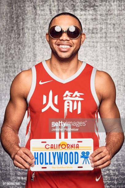 Eric Gordon of the Houston Rockets poses for a portrait during AllStar Saturday Night as part of 2018 NBA AllStar Weekend on February 17 2018 at the...