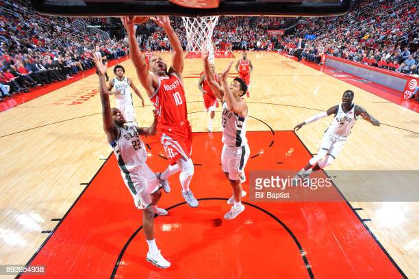 Eric Gordon of the Houston Rockets shoots the ball against the Milwaukee Bucks on December 16 2017 at the Toyota Center in Houston Texas NOTE TO USER...
