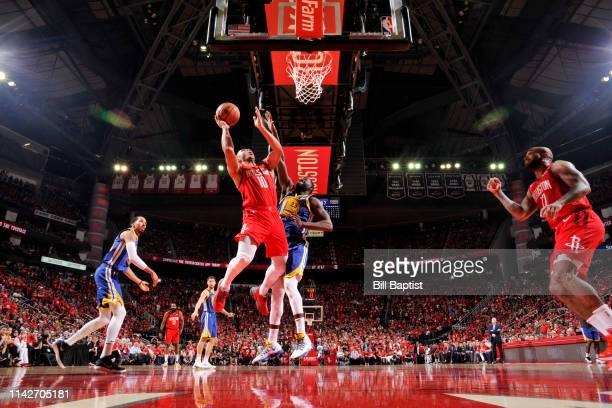 Eric Gordon of the Houston Rockets shoots the ball against the Golden State Warriors during Game Six of the Western Conference Semifinals of the 2019...