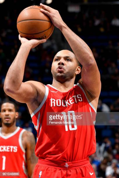 Eric Gordon of the Houston Rockets shoots the ball against the Orlando Magic on January 3 2018 at the Amway Center in Orlando Florida NOTE TO USER...