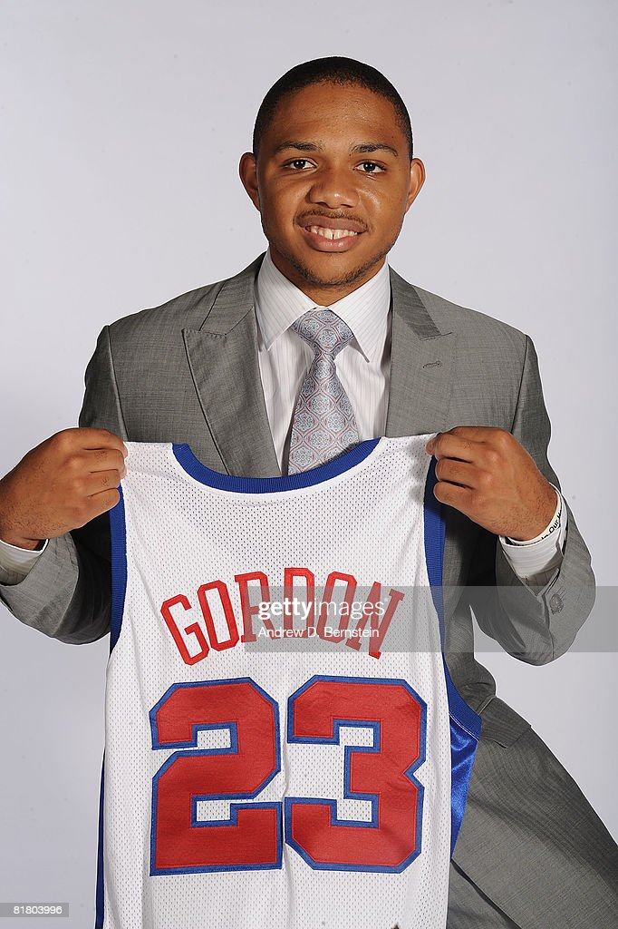 Eric Gordon #23 of the Los Angeles Clippers poses for a photo on July 2, 2008 at Staples Center in Los Angeles, California.