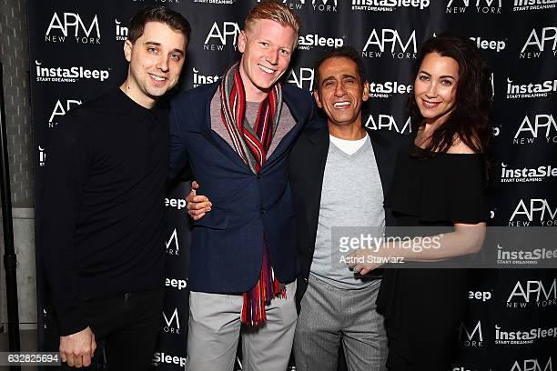 Eric Granwehr Jack Scanlan Nathaniel Aryeh and owner of APM Models Penny Basch attend APM Models 20th Anniversary Presented By InstaSleep Mint Melts...