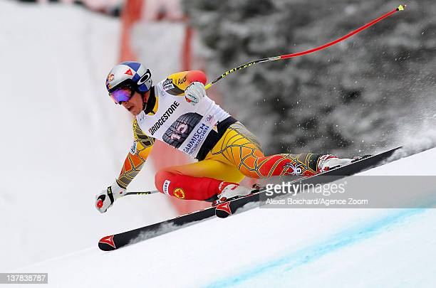 Eric Guay of Canada takes 2nd place during the Audi FIS Alpine Ski World Cup Men's Downhill on January 28 2012 in GarmischPartenkirchen Germany