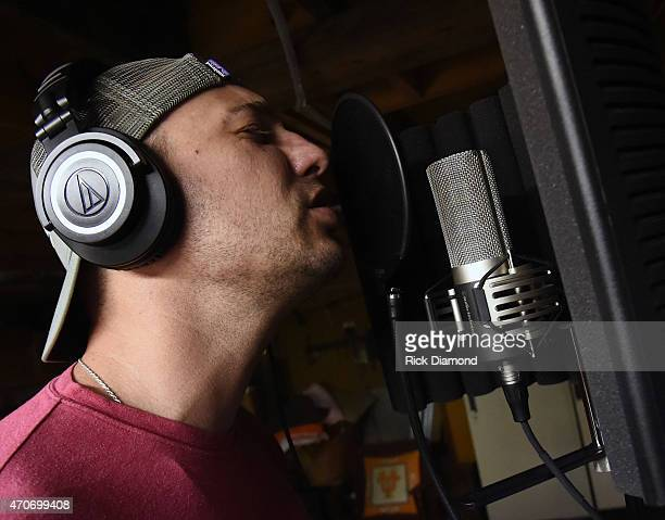 Eric Gunderson attends Country Rock Group Love And Theft Cabin Fever Writing Sessions on April 21 2015 in Dover Tennessee