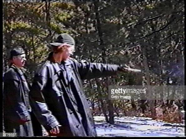 Eric Harris Watches As Dylan Klebold Practices Shooting A