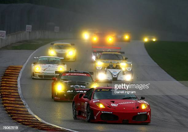 Eric Helary and Gianmaria Bruni drive the Risi Competizione Ferrari 430GT during the American Le Mans Series Generac 500 at Road America August 11...